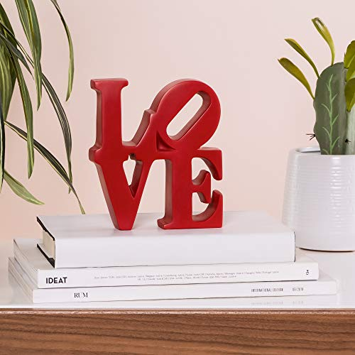 Torre & Tagus Word Art Resin Decor, Red