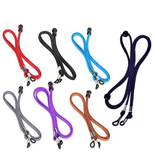Cadena de Gafas 7 Pcs Sunglass Holder Correa, Ajustable con Seguridad en la Cuerda del cordón Retén de Las Lentes de la Cuerda para los Deportes y Actividades al Aire Libre-Kid, Hombres, Mujeres