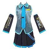 TONGJI Disfraz de Cosplay de Anime Hatsune Miku, Ropa de fórmula Miku Utilizada para Halloween, Navidad, Carnaval, Fiesta temática, Cosplay