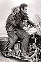 Scorpio Posters James Dean & Marilyn Monroe on Motorcycle Laminated Poster 24.5 x 36.5 inches