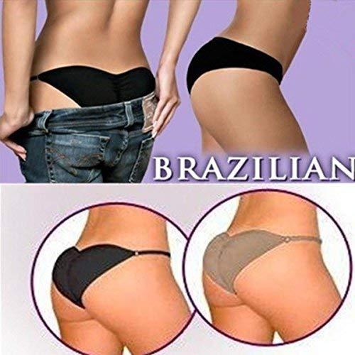 takestop Slip Imbottito Slip Imbottito Taglia Regolabile Push UP Brazilian Secret Mutandina Brasiliana Donna Colore Casuale (Taglia S)