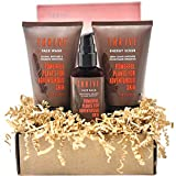 Thrive Natural Deep Clean Skincare Kit for Women & Men (3 Piece) – Gift Set with Natural Face Scrub, Wash & Moisturizing Face Lotion – Organic & Natural Ingredients – Made in USA, Vegan & Cruelty Free