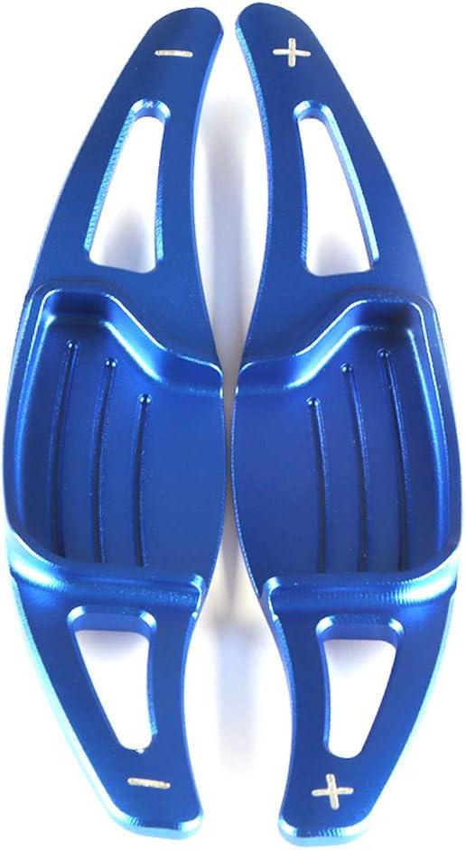Ontto 2 Stücke Aluminiumlegierung Auto Lenkrad Schaltpaddel Schaltwippen Verlängerung Lenkradschaltung Für Mondeo Taurus Edge 2015 2019 Schaltppaddel Erweiterung Dekoration Aufkleber Blau Auto