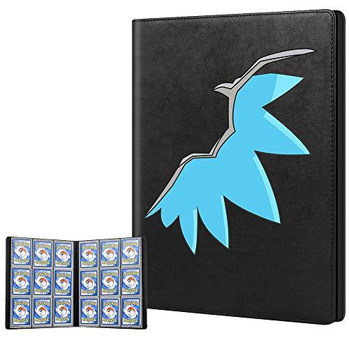 Cpano Kartenhalter Buch Tragetasche Ordner für Pokemon Sammelkarten / Yugioh Karten, Hält bis zu 396 Karten. Inhaber Albumbinder Kompatibel mit 22 Premium 18-Pocket Seiten (Flügel)