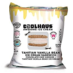 Coolhaus Tahitian Vanilla Ice Cream Sandwich with Chocolate Chip Cookies, 5.8 oz (1 Ice Cream Sandwi