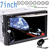 6.95' Touchscreen Double DIN Car Electronics pc Radio in Dash Bluetooth Car Stereo DVD Player Mp3 Audio 1080P Video Player AM/FM Radio/TF/USB/AUX-in/Subwoofer/AV Out + Remote Contro