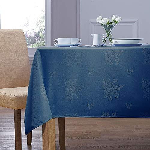 Charlotte Thomas Damask Rose Tablecloth Royal Blue 88cm x 88cm