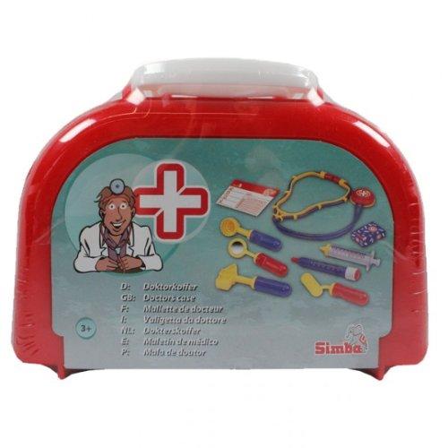 Simba Arztkoffer 10-teilig Doktorkoffer Notarztkoffer Koffer Doktortasche