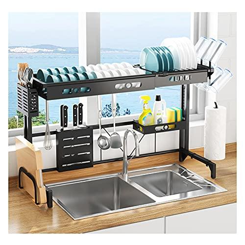 Boven de gootsteen Schotel Droogrek, Keuken Organisatie en Opslag Plank voor Thuis Keuken Aanrecht Ruimtebesparende afwas droogrek