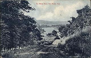 Des Moines River Fort Dodge, Iowa Original Vintage Postcard