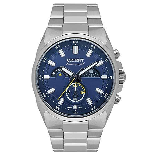 Relógio Orient Masculino Ref: Mbssc215 D1sx Cronógrafo Prateado