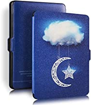 Blue Sky White Cloud Universal Protective Cover Case For Amazon Kindle Paperwhite 1/2/3 - Blue