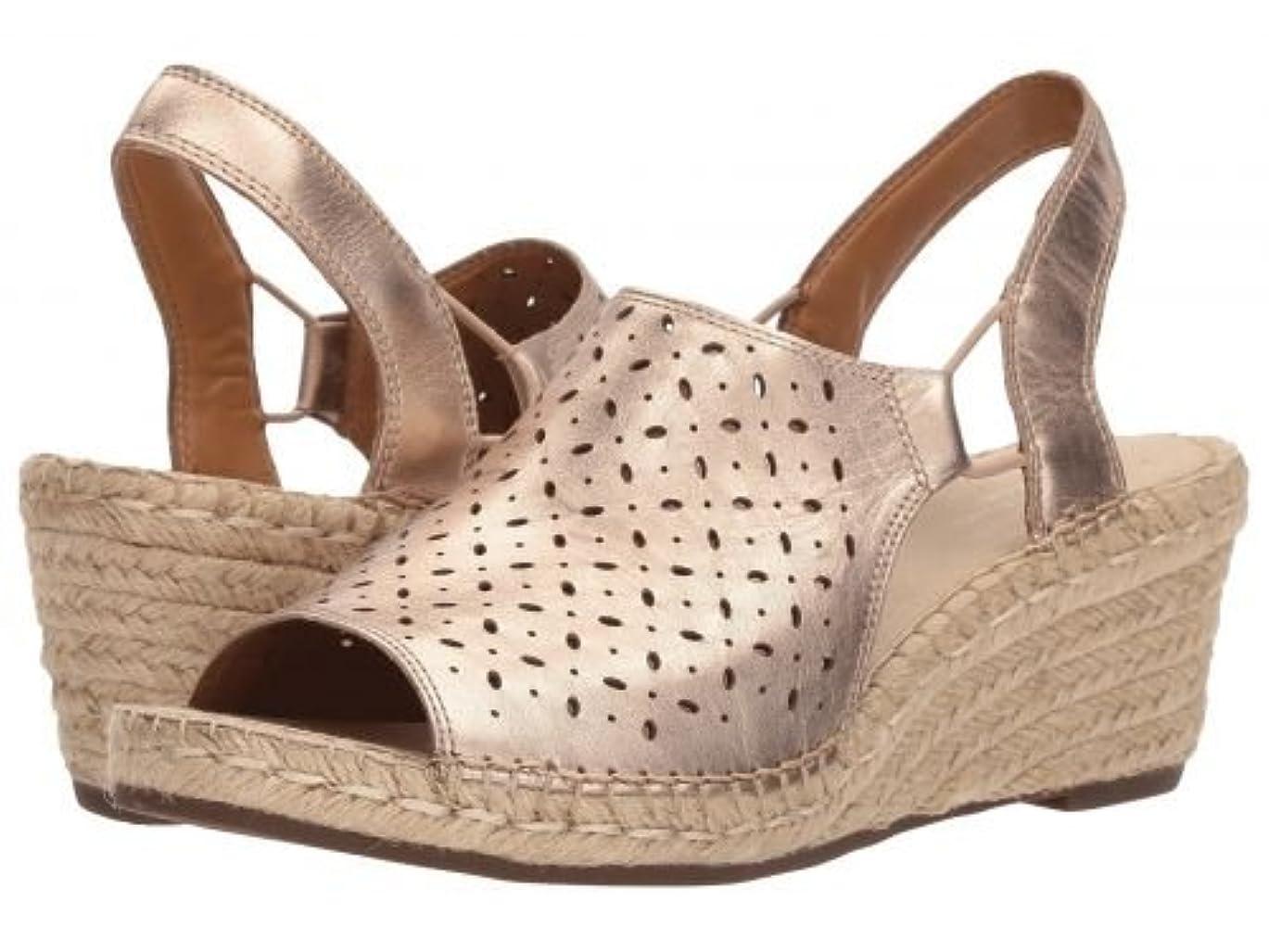 リレー視聴者宿命Clarks(クラークス) レディース 女性用 シューズ 靴 サンダル Petrina Gail - Gold Metallic Leather [並行輸入品]