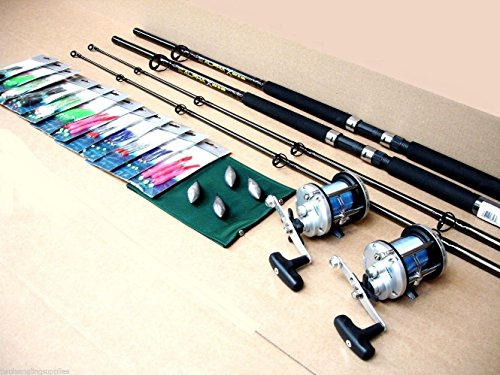Shakespeare Boat Rod Fishing Kit/Set Rods Fladen Reels all tackle inclu