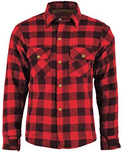 BULLDT Camisa de motorista para hombre, aspecto de leñador