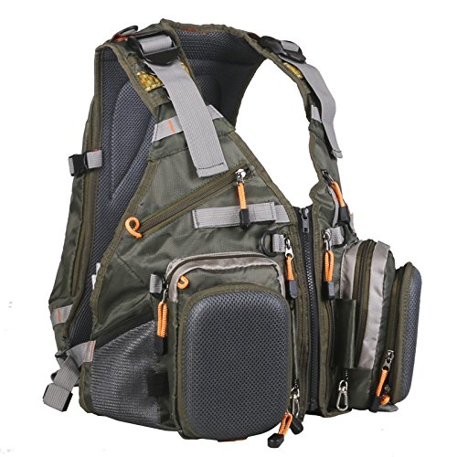 Maxcatch Fly Fishing Backpack Adjustable Size Mesh Fishing Vest P