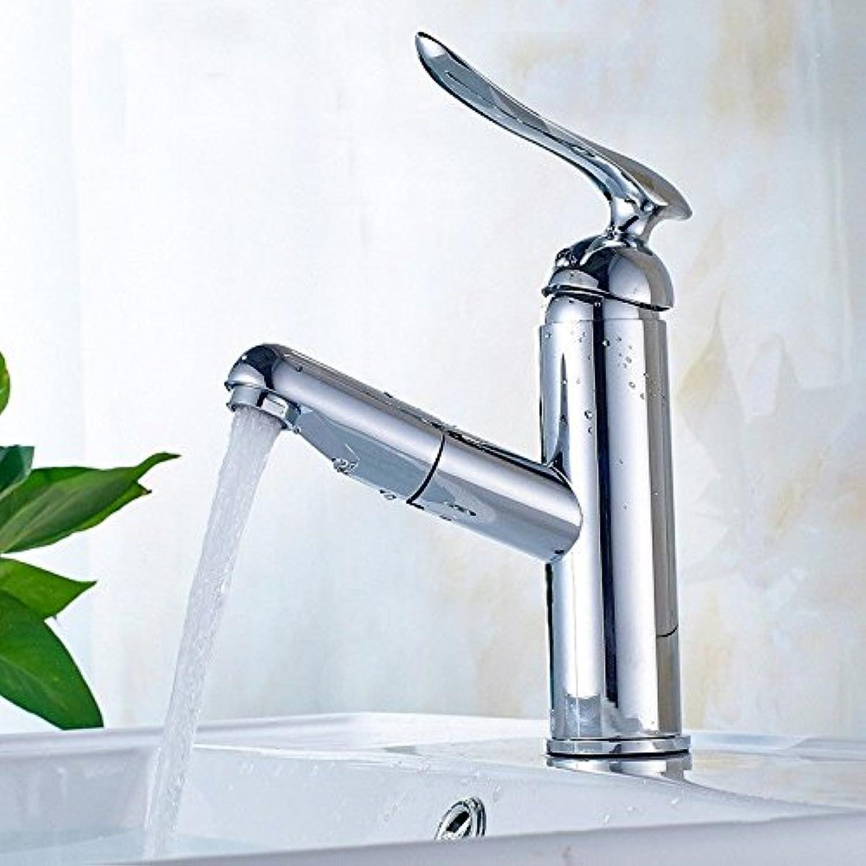 ETERNAL QUALITY Badezimmer Waschbecken Wasserhahn Messing Hahn Waschraum Mischer Mischbatterie Tippen Sie auf das Kupfer verGoldet Pull-down Jade gemischten Wasserhahn ch