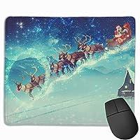 マウスパッド コンピュータマウスパッド クリスマス ゲーミングマウスパッド マウスマット おしゃれ 滑り止め デザイン 可愛い ラバーマット 厚くした 防水 男女兼用