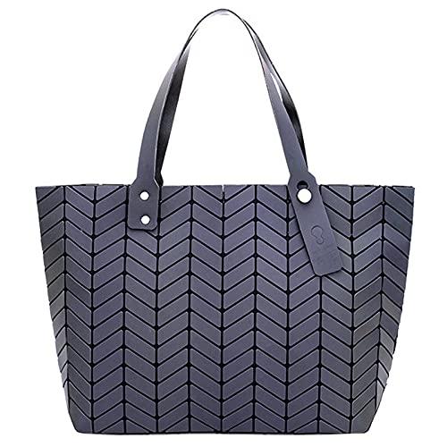 QIANJINGCQ, bolso de hombro de moda para todo fósforo, bolso de gran capacidad para las axilas, bolso de mano con rombo retro simple, bolso femenino geométrico luminoso, mochila, bolso de hombro