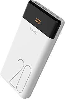 ROMOSS LT20 Portable Charger, 20000mAh Power Bank with LED Display, Ultra High Capacity Type-C PD External Battery with Dual Port 2.1A Battery Compatible with iPhone, iPad, Samsung, Android & More