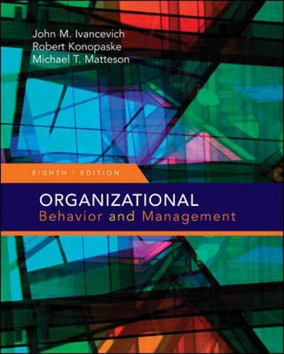 Organizational Behavior and Management (Organizational Behaviour and Management)