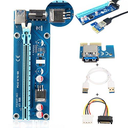ELEGIANT PCI-E Express 1x a 16x Extender Riser Board Tarjeta de Adaptador...