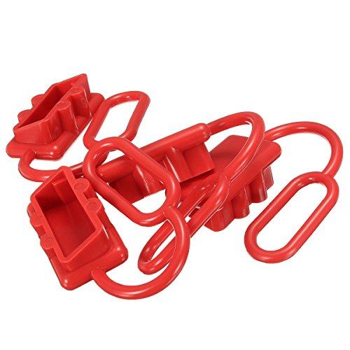 TuToy 4Pcs 50A Dc 12-24V Staubkappenabdeckung Für Anderson Plug Cover Style Anschlüsse Staubschutzkappen Rot