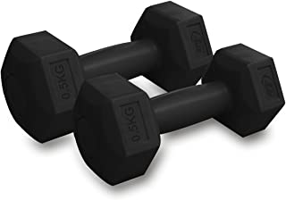 Torrex® Juego de 2 mancuernas (2 x 0,5 kg) en negro para