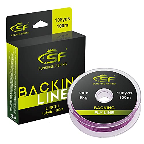 SF Braided Fly Fishing Trout Line Backing Line 30LB 100m/108yds Purple