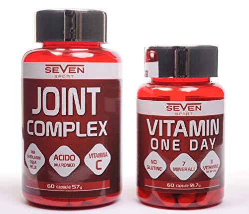 ARTICOLAZIONI PACK - JOINT COMPLEX - a base di glucosamina, MSM e condroitinsolfato 60 cps + Multivitaminico ONE DAY 60 cps - per mantenere le articolazioni sane