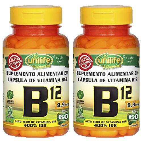 Vitamina B12 (cianocobalamina) - 2 unidades de 60 Cápsulas - Unilife