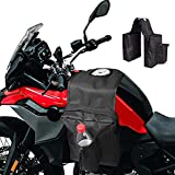 ATV Saddle Bags, Atv Accessories, Waterproof Motorcycles Saddlebags, 600D Oxford Cloth Snowmobiles Bag, Tank Top Saddle Bag with 3 Compartments, Four Wheeler Accessories