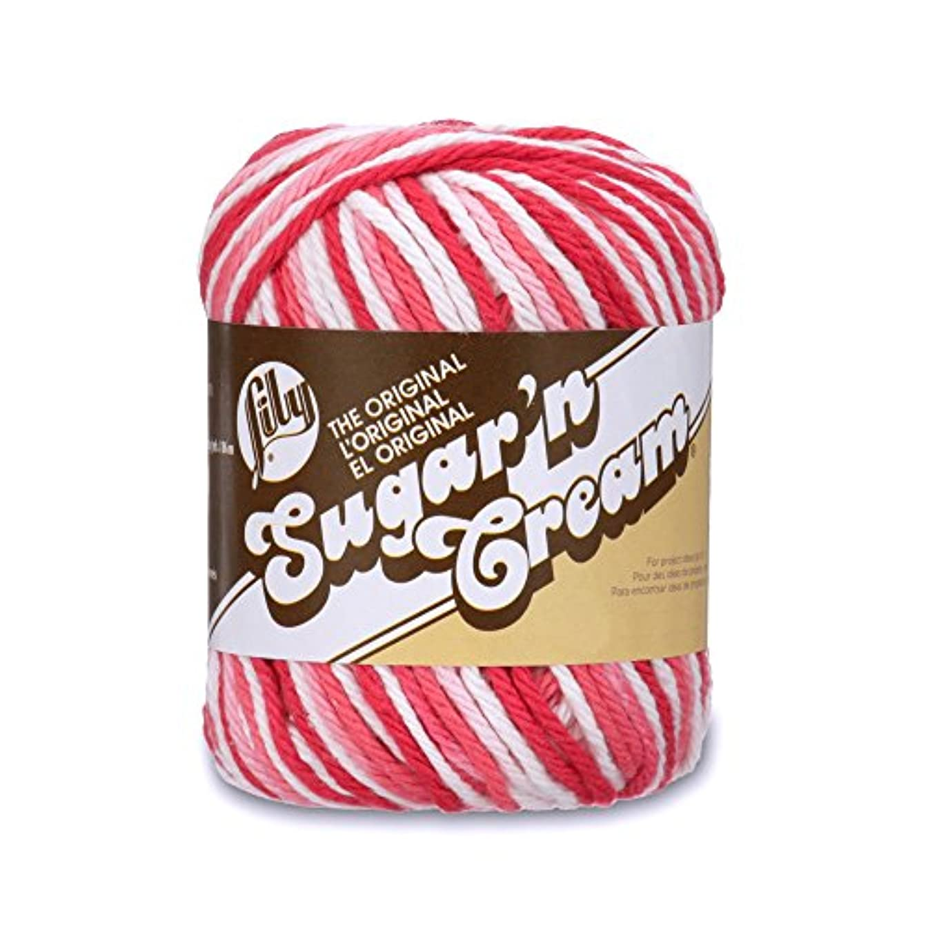 Lily Sugar 'N Cream The Original  Yarn (4) Medium Worsted Gauge 100% Cotton - 2 oz - Pink Ombre - Machine Wash & Dry