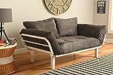 White Metal Frame Small Futon Lounger Furniture for Studio Loft College Dorm Apartments Gu...
