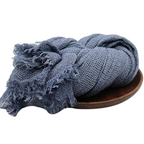 MoreChioce Baby Wrap Decke,Baby Fotografie Swaddle Decken Stretch Wrap DIY Neugeborenen Requisiten Denim Blau Knit Prop