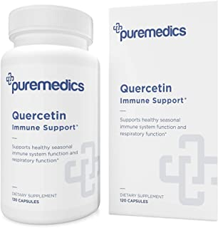 PUREMEDICS Quercetin Supplement - Quercetin with Bromelain to Support Respiratory Health and Immune Function - Pharmaceuti...