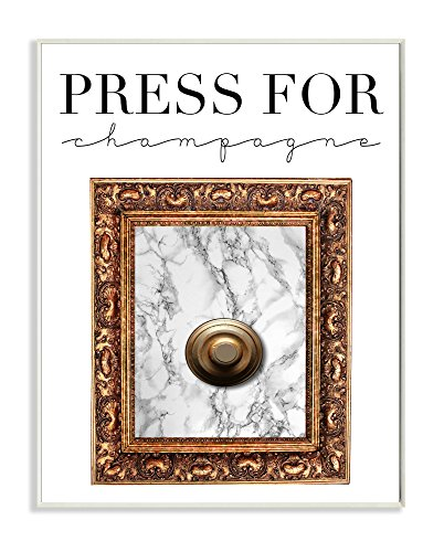 Stupell Industries Press Button For Champagne Wall Plaque, 10 x 15, Multi-Color