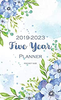 2019-2023 Five Year Planner: Pocket Size 60 Month Calendar Time Management Notebook Journal (Planner and Journal)