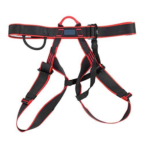 Arnés de protección contra caídas Cinturón de seguridad de medio cuerpo de poliéster ajustable para rescatar Escalada en roca Rappel Deportes al aire libre