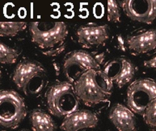 Gütermann Perlen Rocailles 9/0 waschbar 2,7 mm Röhrchen 12 g Fb 3350 braun