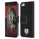 Head Case Designs Licenciado Oficialmente AMC The Walking Dead Alfa Retratos de Personajes de la Temporada Carcasa de Cuero Tipo Libro Compatible con Apple iPhone 6 / iPhone 6s