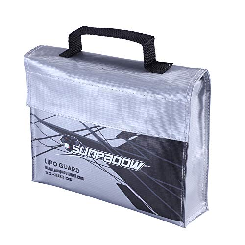Sunpadow Lipo Safe Bag Fireproof Explosion Proof Water Proof Bag Lipo Battery Storage Guard Safe Pouch for Charge & Storage