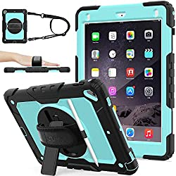 professional iPad 6/5 generation case, new case for iPad 9.7 inch 2018/2017 [Full-Body] & [Shock Proof] armor…
