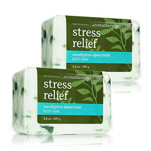 Bath & Body Works Aromatherapy Stress Relief Eucalyptus Spearmint Body Bar,...