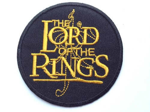 """Aufbügelflicken, Motiv: Der Herr der Ringe, besticktes Logo (englischsprachiger Titel: The Lord Of The Rings""""), Filmabzeichen, 7,5 cm"""