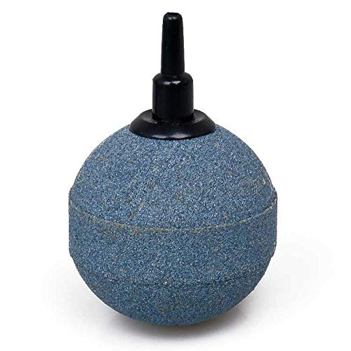 Wagner GREEN Ausströmer Hi-Oxygen Sauerstoff Belüfterstein für Teich und Aquarien. Luftstein zum Anschluss an die Luftpumpe oder Sauerstoffbelüfter, Membranpumpe oder Kolbenkompressor (Kugel 5 cm)