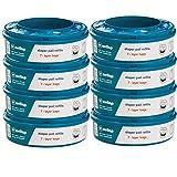 ricarica compatibile con tomme tippe tec e twist & click, con trattamento antiodore evoh (8 pezzi)