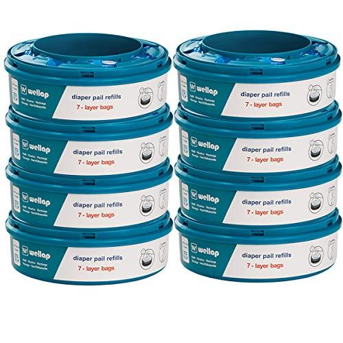 Recambios contenedor de pañales compatible con Twist & Click (8 Piezas)