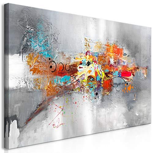 decomonkey Bilder Abstrakt 120x60 cm 1 Teilig Leinwandbilder Bild auf Leinwand Vlies Wandbild Kunstdruck Wanddeko Wand Wohnzimmer Wanddekoration Deko Kunst Modern