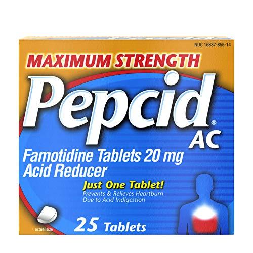 Pepcid AC Maximum Strength 20 mg Famotidine for Heartburn Prevention amp Relief 25 ct